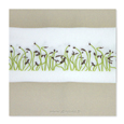 serviette cress marron