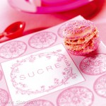 serviette intissée rose