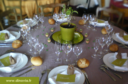 Mariage decoration de table ethnique