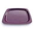 assiette réutilisable violet carré