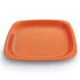assiette-orange-carré-réutilisable