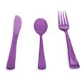 couverts plastique violet