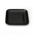 mini assiette carre noire