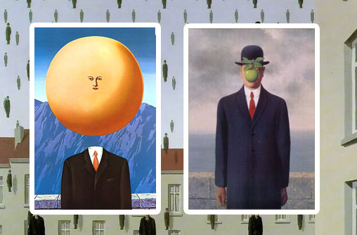 assiette tablo magritte