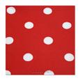 serviette pois rouge aspect tissu