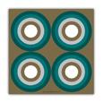 serviette papier cercle bleu