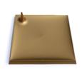 assiette carrée or