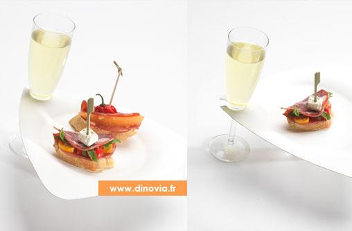 assiette pour flute a champagne