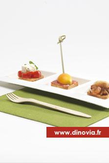 assiette biodégradable trois compartiments