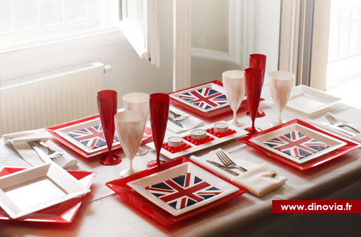 D coration de table britanique blog de la table for Decoration theme angleterre