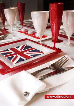 décoration de table british