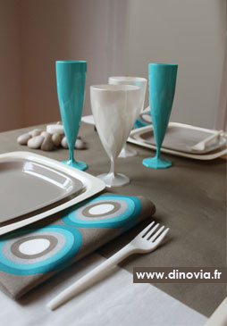 decoration de table bleu