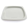 belle assiette jetable blanche