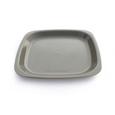 assiette jetable grise carrée