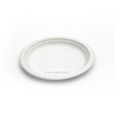 assiette biodgradable blanche canne a sucre