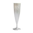 flute champagne plastique blanche
