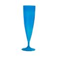 flute champagne plastique fluo bleu