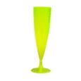 flute champagne plastique fluo jaune