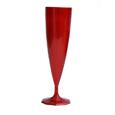 flûte a champagne plastique rouge