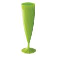 flute champagne plastique verte