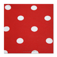 serviette pois rouge intisse