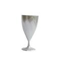 verre a vin plastique blanc