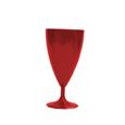 verre a vin plastique rouge