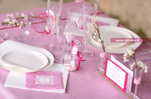 les tables mariage en rose et blanc un mariage rose et blanc une ...