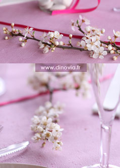 dcoration de table mariage rose
