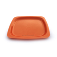assiete plastique couleur orange
