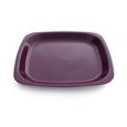 assiette réutilisable violette