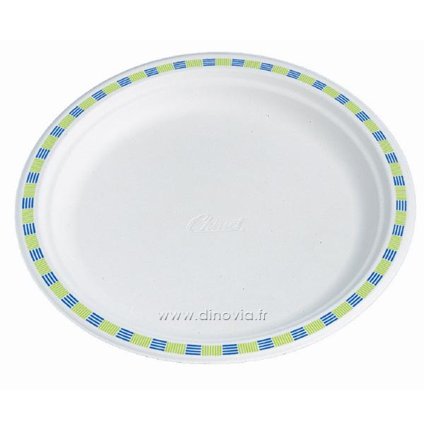 assiette chinet liseré coloré