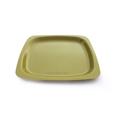 assiette réutilisable verte