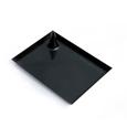 Assiette noire plastique