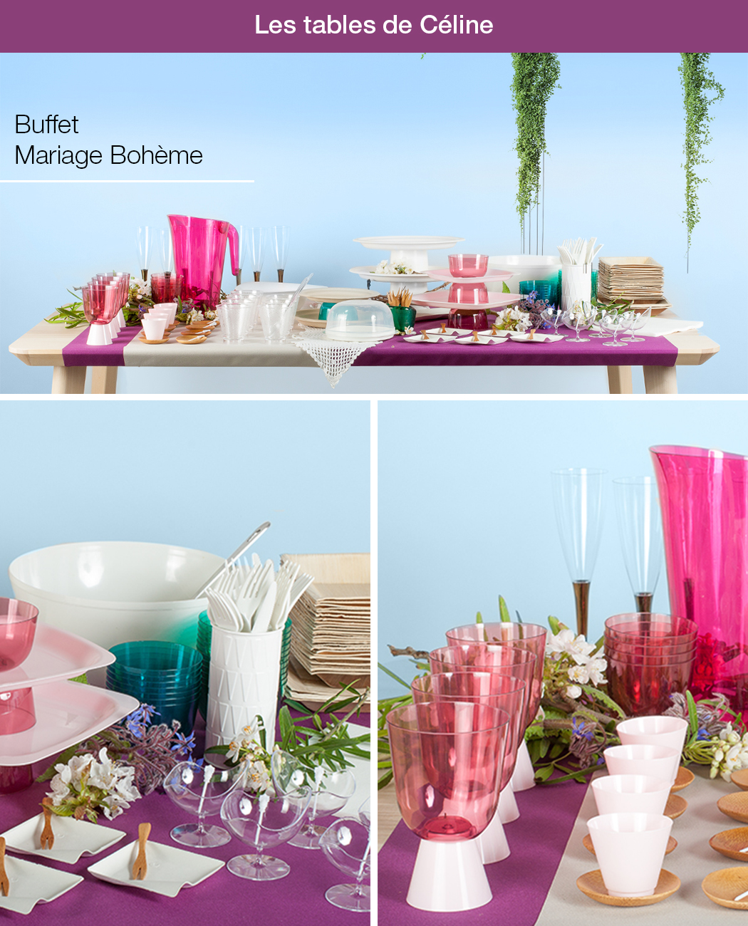 buffet pour un mariage boh me blog de la table recettes art de la table vaisselle jetable. Black Bedroom Furniture Sets. Home Design Ideas