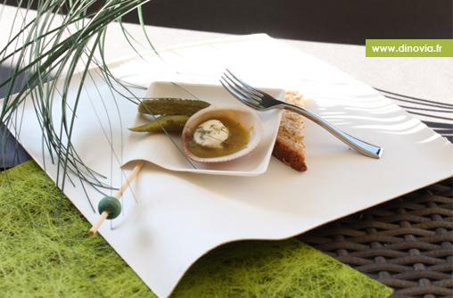 assiette carré biodégradable