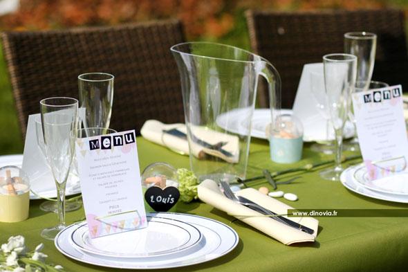 dcoration de mariage en pastel - Assiette Jetable Mariage